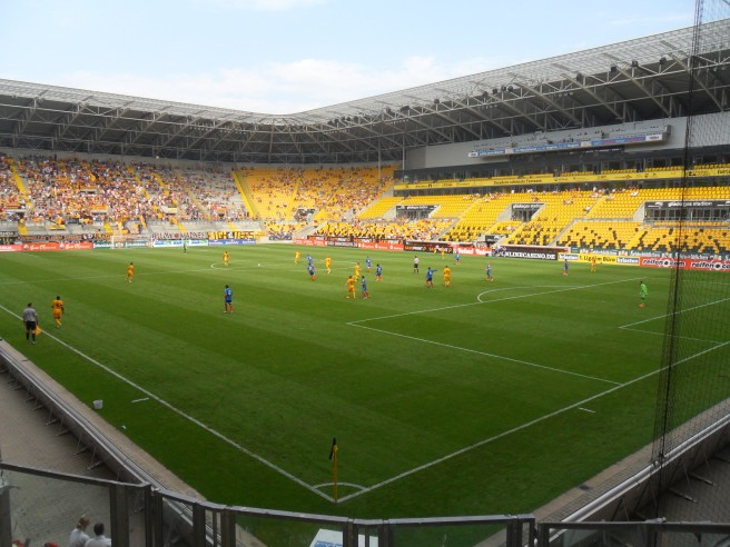 Dynamo Dresden away end