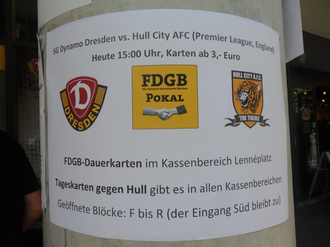 Dynamo Dresden vs Hull City