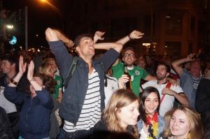 Argentina vs Germany fans