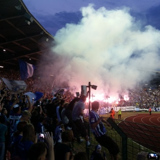 Hertha BSC pyro show