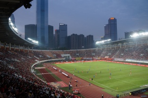 Tianhe stadium night