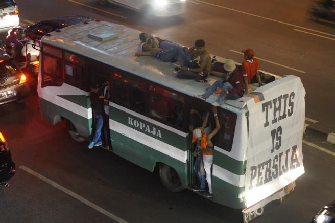 Indonesian Football bus