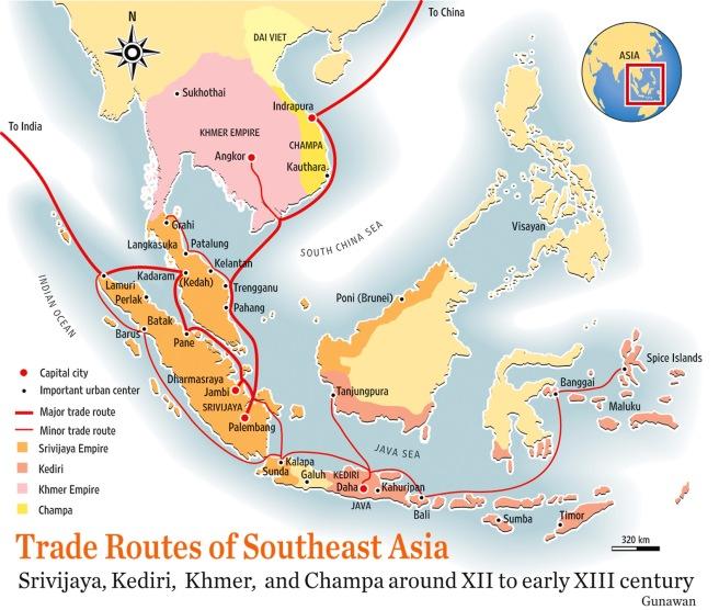 Sriwijaya map