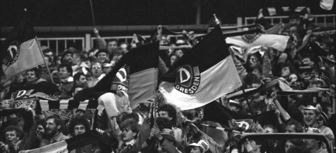 Dynamo Dresden fan flag