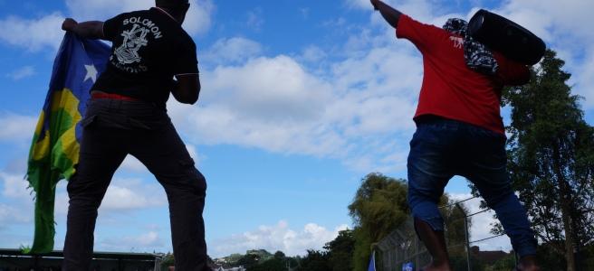 Football fans Solomon Islands