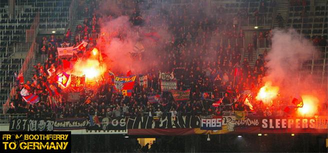 FC Basel pyro show