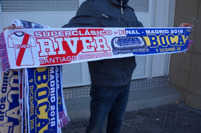 River Plate Boca Juniors half scarves