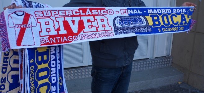 River Plate Boca Juniors half scarves