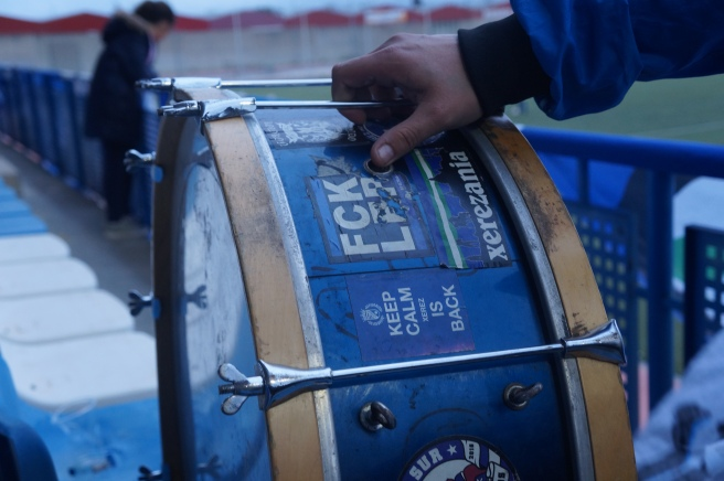 Football ultras drum