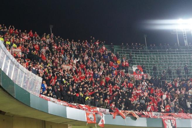 Olympiakos fans Seville