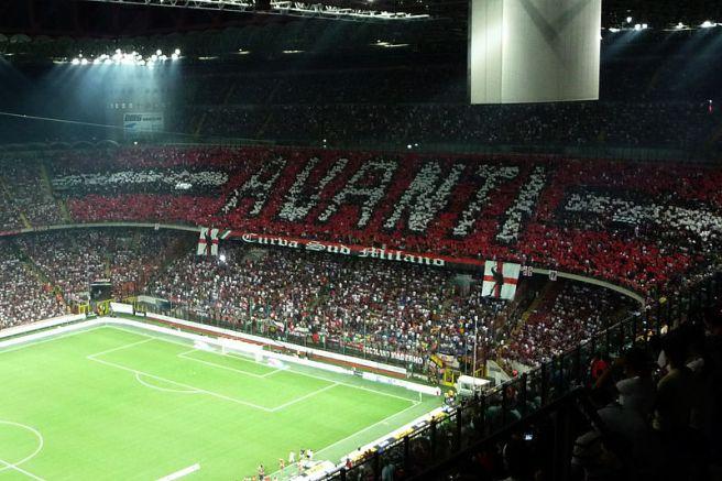 Milan derby tifo